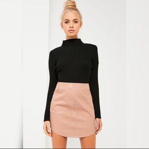 06d7e76987 Missguided Skirts | Nicole X Black Faux Leather Skirt | Poshmark